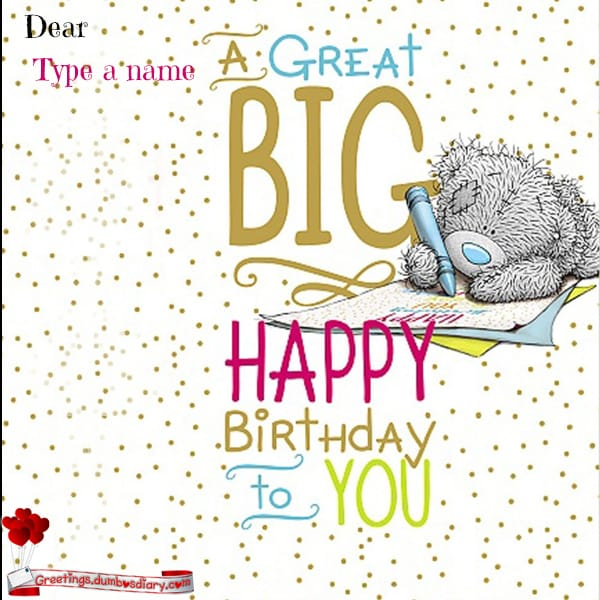 A great big birthday card