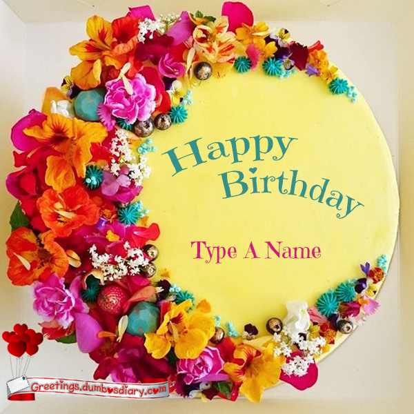 Fresh flowers yellow cake cover